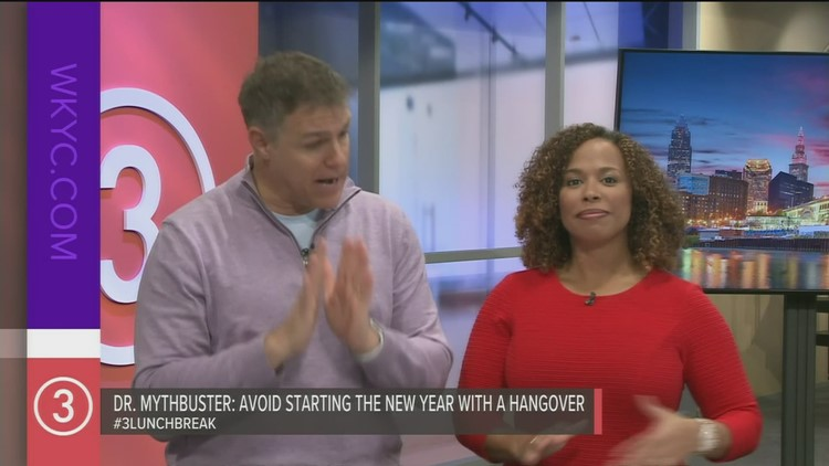 Test your hangover knowledge with 'Dr. Mythbuster' on Lunch Break with Jay Crawford
