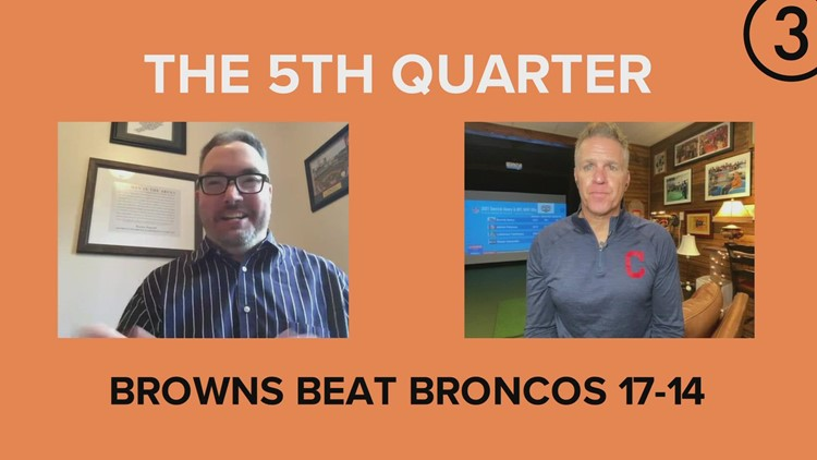 #3Browns 'The 5th Quarter': Jay Crawford and Dave 'Dino' DeNatale recap Cleveland Browns' 17-14 win over Denver Broncos