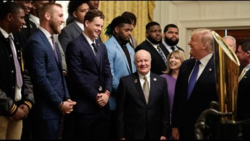 Joe Burrow, LSU Tigers visit the White House after winning national title