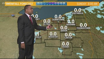 Morning Weather Forecast For Northeast Ohio For Sunday, January 26.