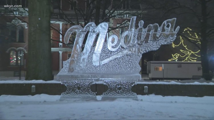 A First Look at The 27th Annual Medina Ice Festival.