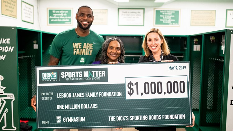 LeBron James I PROMISE School $1 million check for new gym