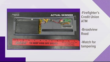 Skimmer found on Broadview Heights ATM