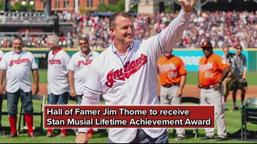 Cleveland Indians Hall of Famer Jim Thome to receive Stan Musial Lifetime Achievement Award