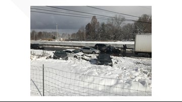 Portion of Route 8 south reopens following 85-vehicle pileup near Peninsula