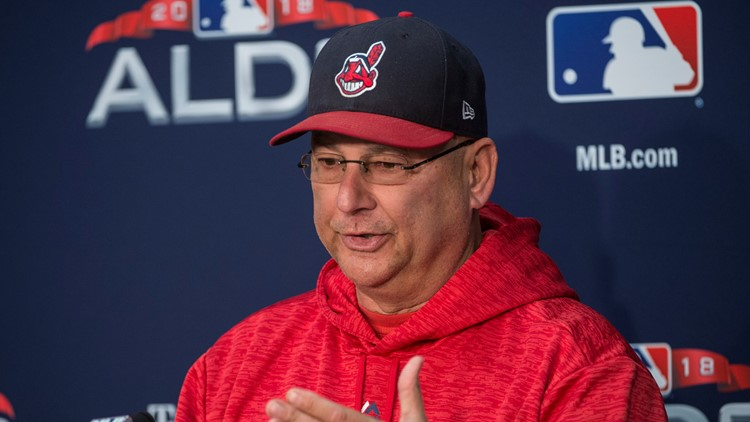 Cleveland Indians manager Terry Francona at 2018 ALDS