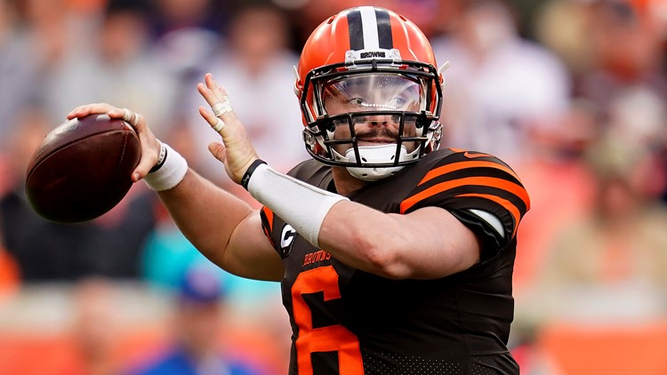 Baker Mayfield Cleveland Browns-Denver Broncos Football