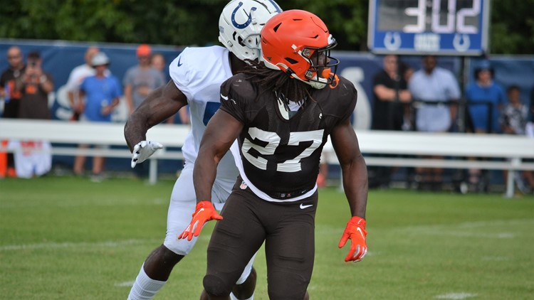 Kareem Hunt Cleveland Browns joint practice with Indianapolis Colts August 15, 2019