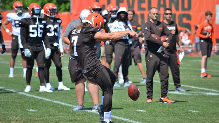 Jamie Gillan Cleveland Browns Training Camp August 5, 2019
