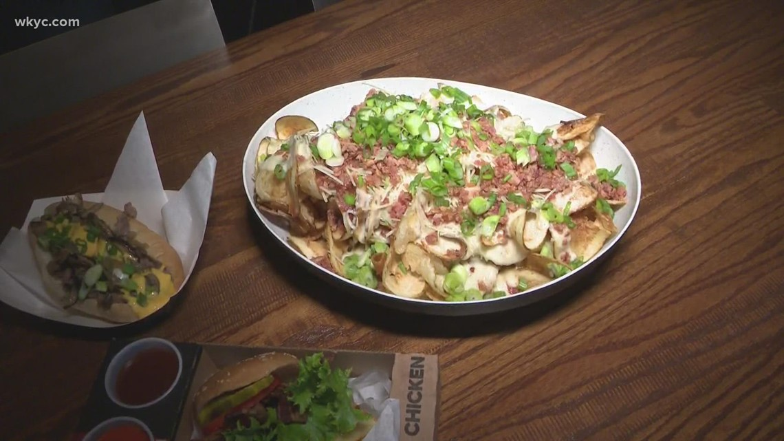 Sampling some food for Cleveland Browns games at FirstEnergy Stadium: Cleveland nachos and 'tender loving chicken'
