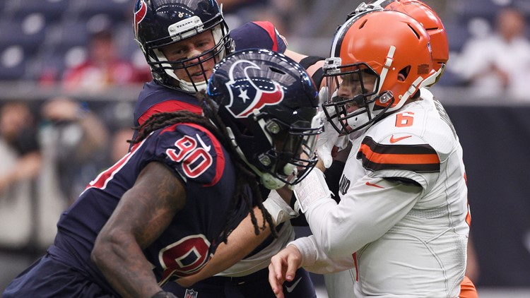 Baker Mayfield reacts to Jadeveon Clowney signing with Browns: 'Happy birthday to me'