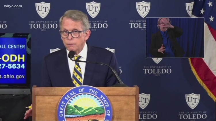 Gov. DeWine: Ohio now at 200 cases of COVID-19 per 100,000 people during last 2 weeks