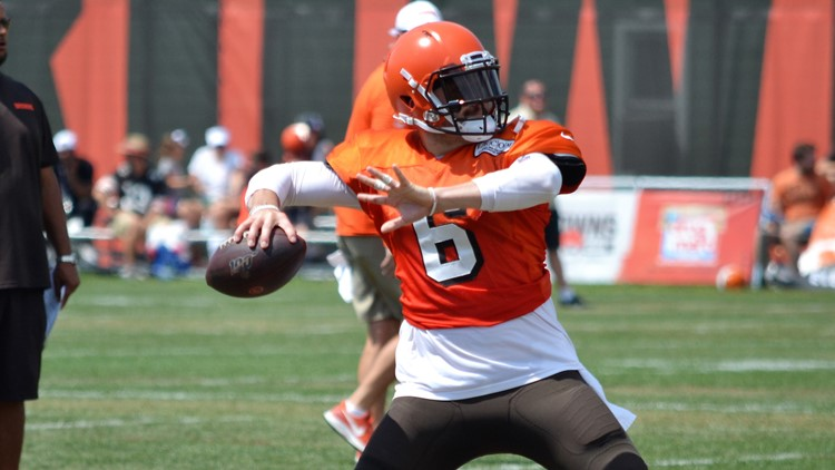 Baker Mayfield Cleveland Browns Training Camp August 5, 2019