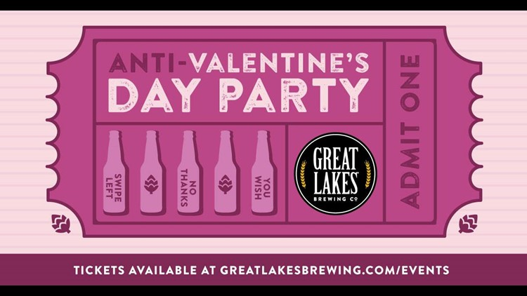 Great Lakes Brewing Company Anti-Valentine's Day party