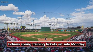 Cleveland Indians spring training tickets on sale Monday