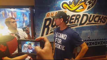 Cleveland Indians pitcher Carlos Carrasco addresses media following rehab outing in Akron (Video courtesy of Cleveland Indians)