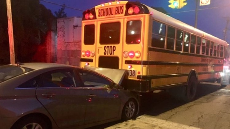 School bus involved in Cleveland crash