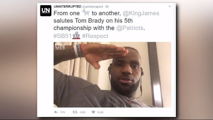 <p>'A major salute to Mr. Tom Brady on your fifth championship.'</p>