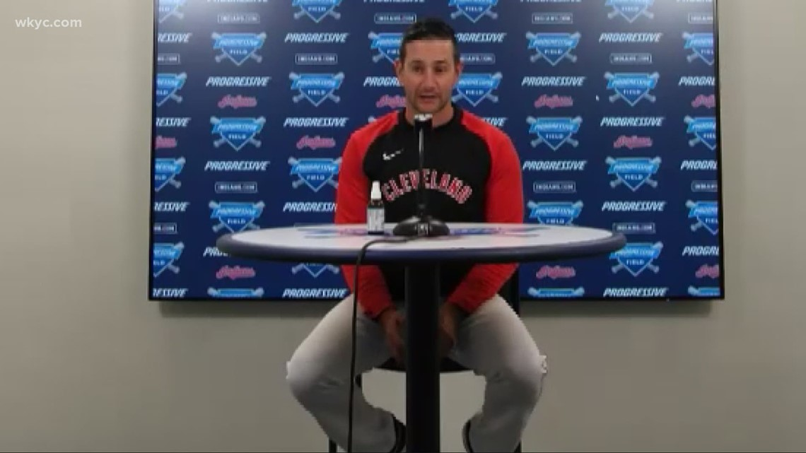 Cleveland Indians' bullpen coach Brian Sweeney on working as a volunteer firefighter