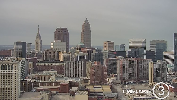 Saturday Cleveland weather time-lapse for January 30, 2021