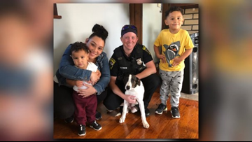 Parma police officers rescue puppy from smoke-filled house