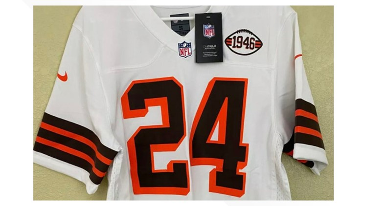 Photos of Cleveland Browns' planned 1946 throwback alternate uniforms appear to have been leaked on eBay
