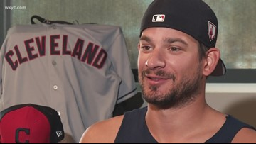 Cleveland Indians pitcher Brad Hand reveals what makes him more nervous than closing games: 'Beyond the Dugout'