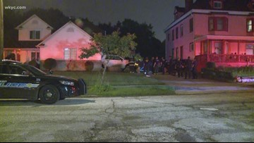 Vehicle slams into Cleveland home as driver fights with carjacker