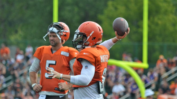 Baker Mayfield Cleveland Browns training camp August 12, 2019