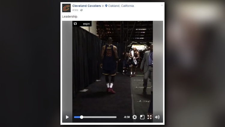<p>It's a moment the Cleveland Cavaliers have simply labeled 'Leadership.'</p>