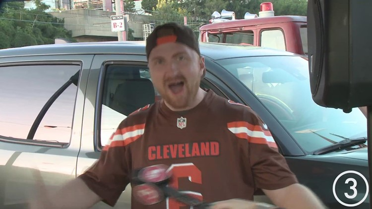 Sights and Sounds: The Muni-lot was packed today for the Cleveland Browns' home opener