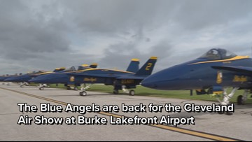 Blue Angels prep in Cleveland