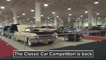 Checking out the Classics at the Cleveland Auto Show