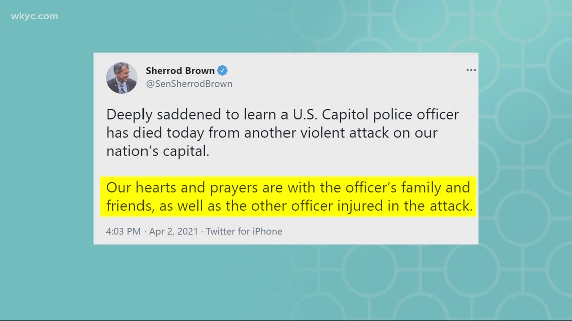 Ohio's members of Congress react to vehicular attack on U.S. Capitol police officers