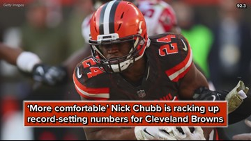 'More comfortable' Nick Chubb is racking up record-setting numbers for Cleveland Browns