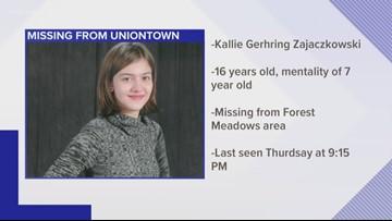 Regional Endangered Child Advisory issued for Uniontown girl