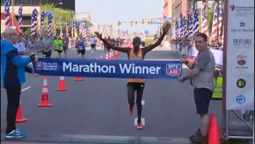 Edwin Kimaiyo wins 2019 Cleveland Marathon after overtaking lead in final miles of race