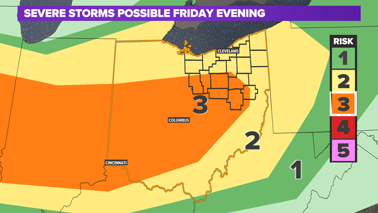 FORECAST | Tracking severe storms: Level 2-3 risk