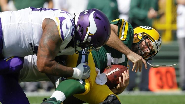 Sheldon Richardson Minnesota Vikings-Green Bay Packers Football