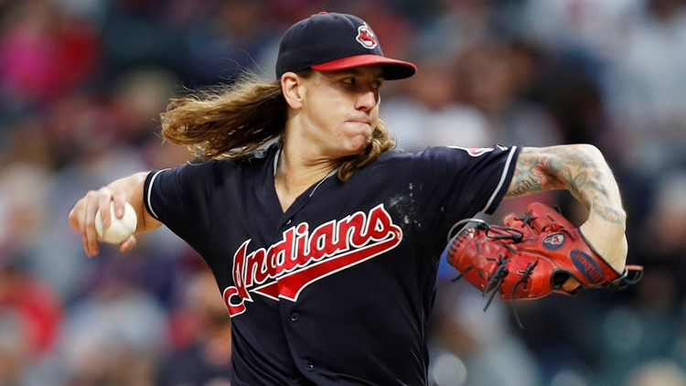 Cleveland Indians SP Mike Clevinger throws pitch