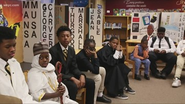 Leon Bibb Reports: Students live Black History Month at Kenneth W. Clement Boys Leadership Academy in Cleveland
