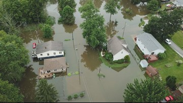 Medina County: Cars, homes flooded as Chippewa Lake rises