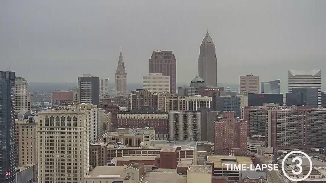 Friday Cleveland weather time-lapse for January 1, 2021