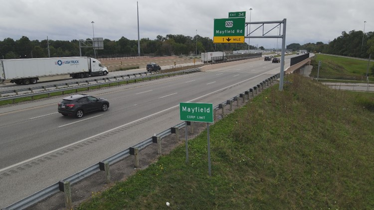 Mayfield Village police to use speed cameras along I-271