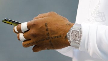 Cleveland Browns WR Odell Beckham Jr. wears $2 million Richard Mille watch for pregame warmups vs. New York Jets