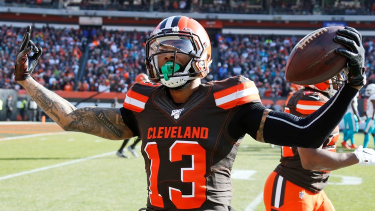 Odell Beckham Jr. Miami Dolphins-Cleveland Browns Football