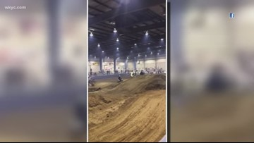 7 hurt after motocross bike flies into stands at Summit County Fairgrounds