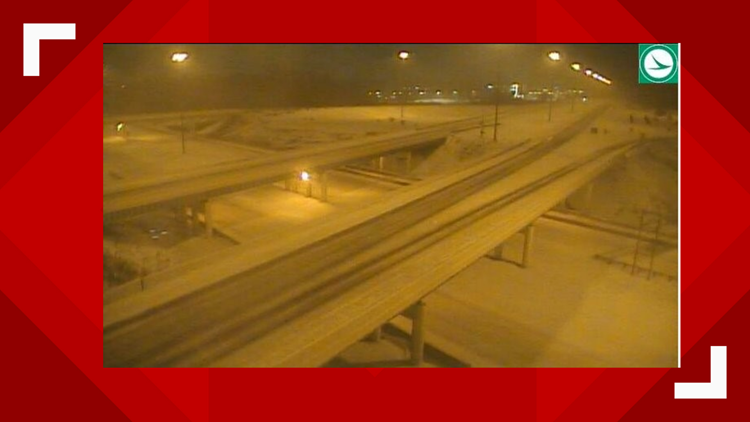 I-77 at I-271 in Richfield during winter storm