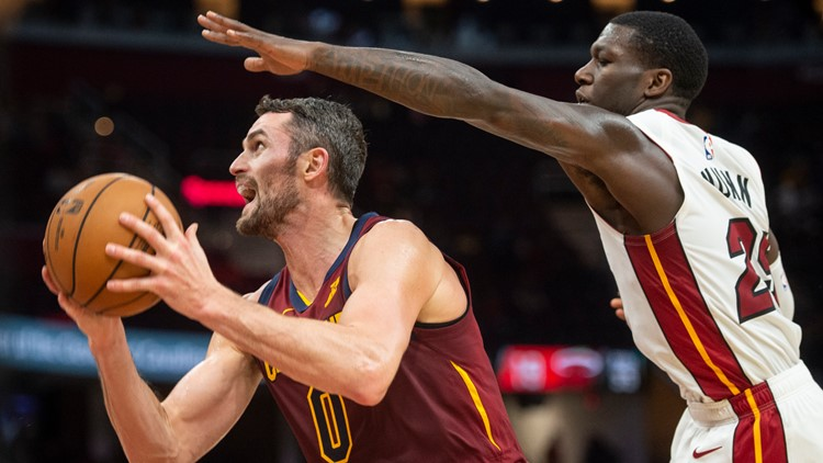 Kevin Love's 21 points not enough as Cleveland Cavaliers fall to Miami Heat 108-97