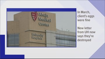 Lawyers for families accuse University Hospitals of dishonesty in fertility clinic case